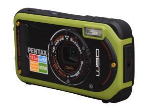 PENTAX Optio W90 Pistachio Green 12.1 MP Waterproof Shockproof 28mm Wide Angle Digital Camera
