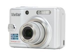 Vivitar ViviCam 5355 Silver 5.0 MP Digital Camera