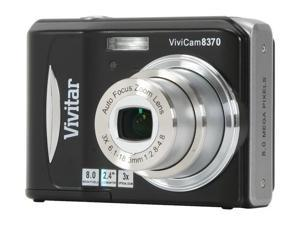 Vivitar Vivicam 8370 Black 8.0 MP Digital Camera