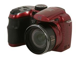 GE X500 Burgundy 16 MP 27mm Wide Angle Digital Camera