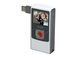 Flip UltraHD Camcorder - White & Chrome, 120 Minutes