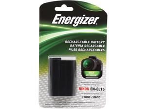 Energizer ENB-NEL15 1667mAh Li-Ion Battery replaces the Nikon EN-EL15 for 1 V1, D7000, D7100, D600, D800, D800E digital cameras