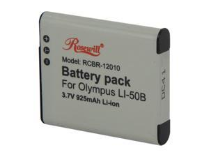 Rosewill RCBR-12010 925mAh Li-Ion Premium Battery Pack compatible with Olympus SZ-10, SZ-12, SZ-15, SZ-20, SZ-30MR, SZ31MR ...