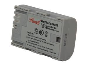 Rosewill RCBR-11008 1800mAh Li-Ion Premium Battery Pack - Replacement for Canon LP-E6