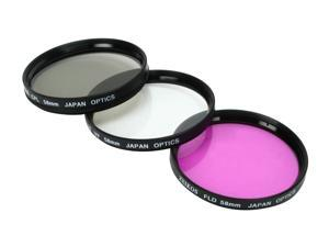 ZEIKOS ZE-FLK58 58mm Professional MULTI-COATED Glass Filter Kit