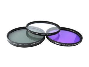 ZEIKOS ZE-FLK77 77mm Professional MULTI-COATED Glass Filter Kit