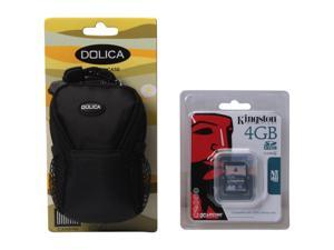 DOLICA 4GBWB10189 2-in-1 4GB SD Memory Card & Small Case bundle