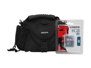 DOLICA 4GBWB3590 2-in-1 Kingston 4GB SDHC Card & Case Bundle Kit