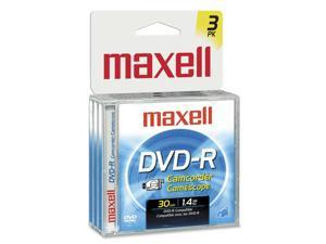maxell 567622 Camcorder DVD-R Jewel Case 3PK