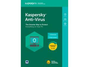 Kaspersky Anti-Virus 2018 - 3 Devices/1 Year [Key Card]