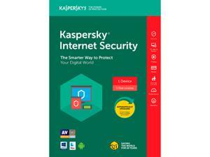 Kaspersky Internet Security 2018 1 Device / 1 Year [Key Card] + H&R BLOCK Tax Software Deluxe