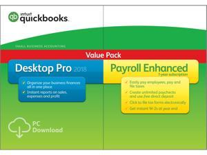 Intuit QuickBooks Desktop Pro with Enhanced Payroll 2018 - Download