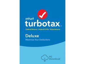 Intuit TurboTax Deluxe 2017 Federal with State (Download)