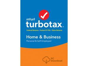 Intuit TurboTax Home & Business 2017, Federal with State + Efile for Windows - Download