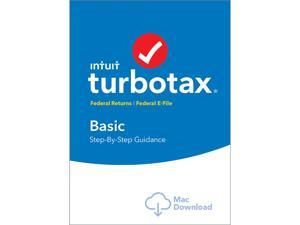 Intuit TurboTax Basic 2017 Federal + Efile for Mac - Download