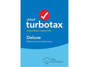 Intuit TurboTax Deluxe 2017, Federal no State + Efile for Mac - Download