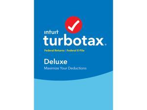 Intuit TurboTax Deluxe 2017, Federal no State  + Efile for Windows or Mac - Disc