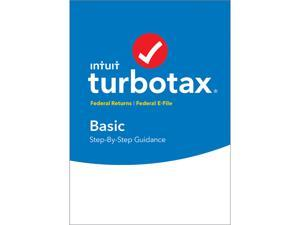 Intuit TurboTax Basic 2017 Federal + Efile for Windows or Mac - Disc