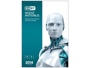 ESET NOD32 Antivirus 2014 - 3 PCs