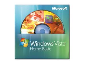 Microsoft Windows Vista Home Basic SP1 64-bit 3 Pack for System Builders - OEM