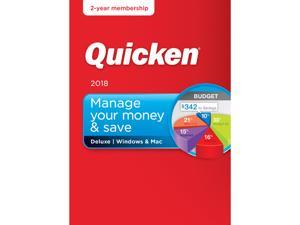 Quicken Deluxe 2018 Office & Accounting Software - Windows/Mac - 2 Year Subscription + Acronis True Image 2018