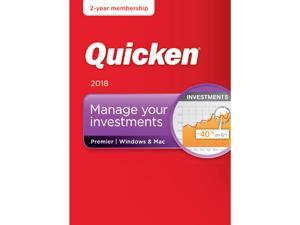 Quicken Premier 2018 for Windows/Mac with 2 Year Subscription