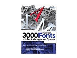 SummitSoft TrueType 3000 fonts with Font Management System