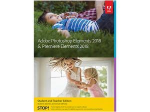 Adobe Photoshop Elements & Premiere Elements 2018 for Windows Student & Teacher - Validation Required - Download