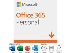 Microsoft Office 365 Personal - 1 PC / Mac + 1 Tablet, 1-Year Subscription - Download