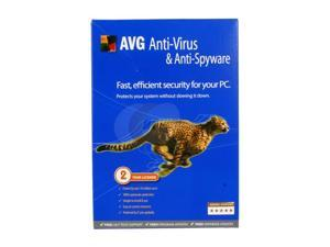 AVG Anti-Virus & Anti-Spyware V8.0 1User/2Year Small Box