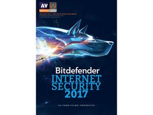 Bitdefender Internet Security 2017 - 1 PCs / 1 Year