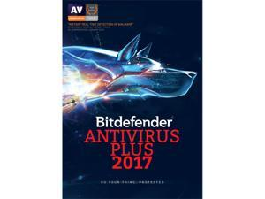 Bitdefender Antivirus Plus 2017 - 1 year - 3 PCs - Download