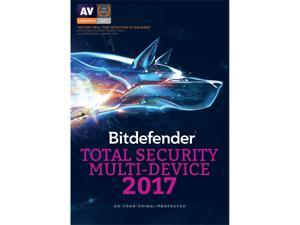 Bitdefender Total Security 2017 - 2 years - 5 devices - Download