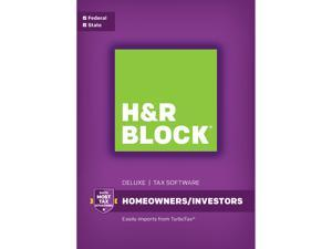 H&R BLOCK Tax Software Deluxe + State 2017 Windows - Download
