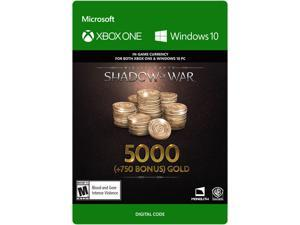 Middle-earth: Shadow of War - 5000 (+750 Bonus) Gold Xbox One / Windows 10 [Digital Code]