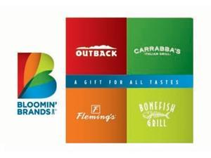 Bloomin' Brands $100.00 Gift Card (Email Delivery)