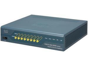 Cisco ASA5505-50-BUN-K9 ASA 5505 50-User Bundle includes 8-port Fast Ethernet switch, 10 IPsec VPN peers, 2 Premium VPN peers, ...