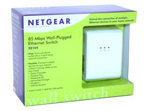 NETGEAR XE104 85 Mbps Wall-Plugged Ethernet 4-port Switch