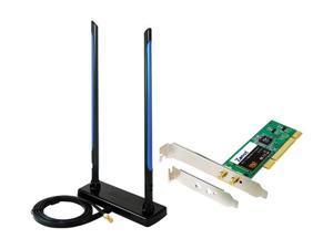 Zonet ZEW1690 PCI Wireless Adapter with Dual 7dbi Hi-Gain Antenna & Bonus Low-Profile Bracket