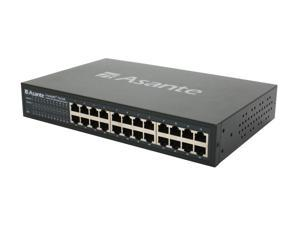 Asante FriendlyNET FS4124R 10/100Mbps Switch with rackmount kit (99-00709)