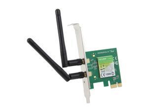 TP-LINK TL-WN881ND Wireless N300 PCI Express Adapter, 300 Mbps, w/ WPS Button, IEEE 802.1b/g/n, 64 / 128 bit WEP, WPA / ...