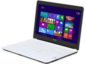 "SONY VAIO F Series SVF1421ACXW Intel Pentium 2117U 1.8GHz 14.0"" Windows 8 64-Bit Notebook"