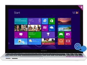 "SONY VAIO T Series SVT15117CXS Intel Core i7 8GB Memory 1TB HDD 32GB SSD 15.5"" Touchscreen Ultrabook Windows 8 64-Bit"
