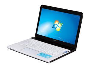 "SONY VAIO SVE14116FXW Intel Core i5-2450M 2.5GHz 14.0"" Windows 7 Home Premium 64-Bit Notebook"