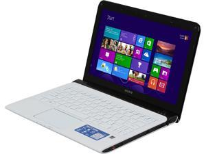 "SONY VAIO E Series SVE11125CXW AMD Dual Core E2-1800 1.7GHz 11.6"" Windows 8 64-bit Notebook"