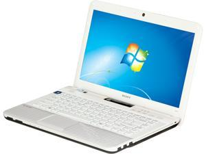 "SONY VAIO VPCEG3WFX/W Intel Pentium B960 2.2GHz 14.0"" Windows 7 Home Premium 64-Bit Notebook"