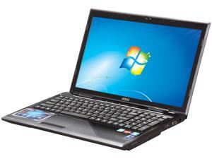 "MSI CR650-016US AMD Dual-Core Processor E-350 1.6GHz 15.6"" Windows 7 Home Premium 64-bit Notebook"
