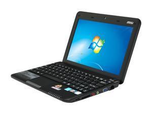 """MSI Wind L1350D-1672US Black 10.0"""" WSVGA Netbook"""