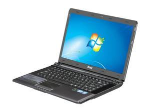 "MSI X460DX-006US Intel Core i5-2410M 2.30GHz 14.0"" Windows 7 Home Premium 64-bit Notebook"