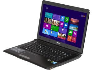 "MSI GE Series GE40 2OC-218US Notebook Intel Core i7-4702MQ 2.2GHz 14.0"" Windows 8"
